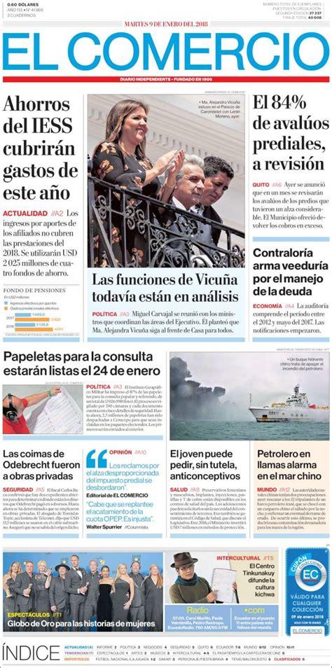 Periódico El Comercio  Ecuador . Periódicos de Ecuador ...