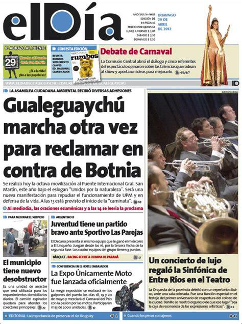 Periódico El Día de Gualeguaychú  Argentina . Periódicos ...