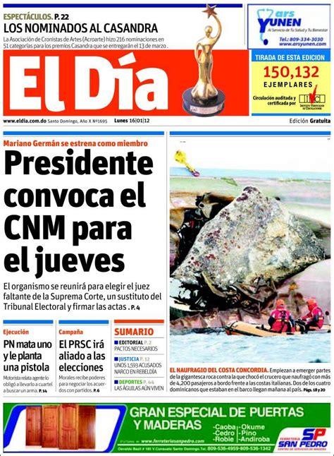 Periódico El Día  R. Dominicana . Periódicos de R ...