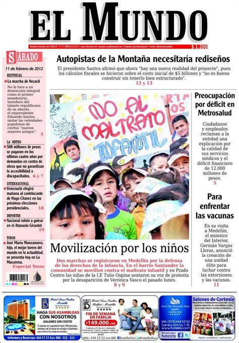 Periódico El Mundo de Medellín se convierte en semanario ...