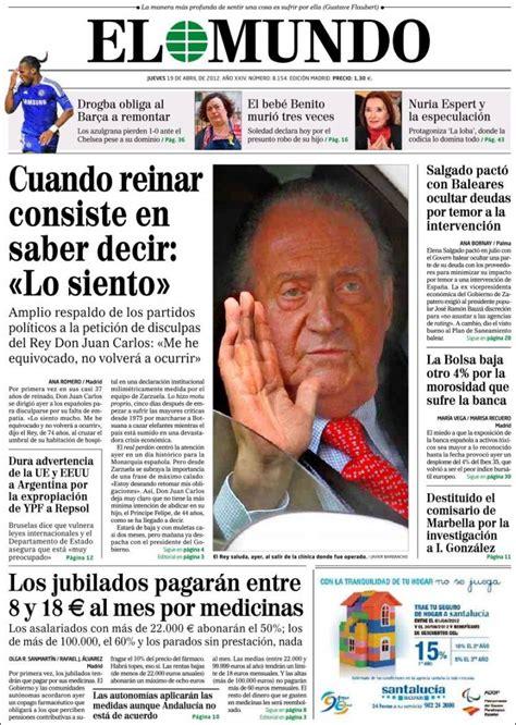 Periódico El Mundo  España . Periódicos de España. Edición ...