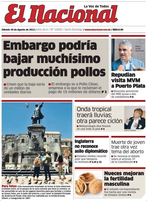 Periódico El Nacional  R. Dominicana . Periódicos de R ...