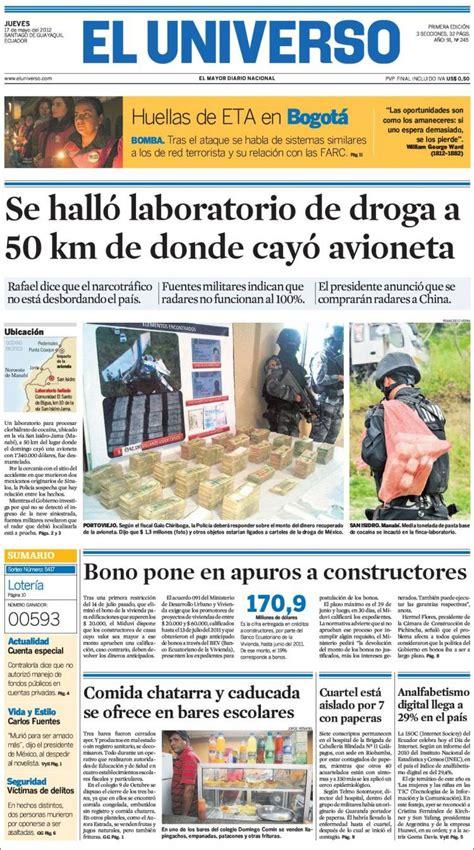 Periódico El Universo   Ecuador  Ecuador . Periódicos de ...