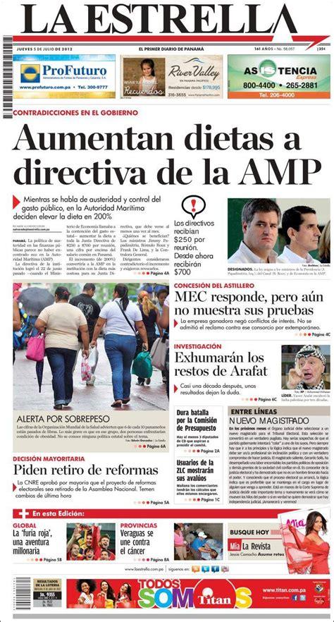 Periódico La Estrella de Panamá  Panamá . Periódicos de ...