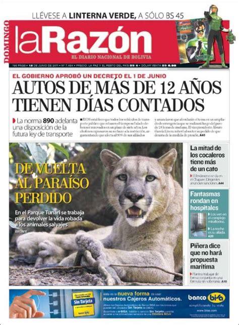 Periódico La Razón  Bolivia . Periódicos de Bolivia ...