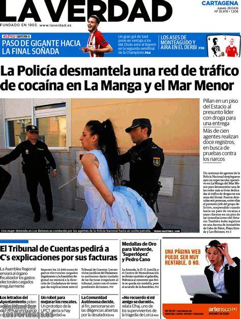 Periodico La Verdad Cartagena   28/4/2016
