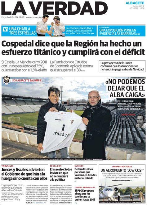 Periódico La Verdad de Albacete  España . Periódicos de ...