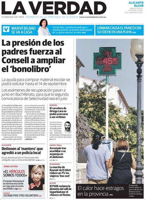 Periódico La Verdad de Alicante  España . Periódicos de ...