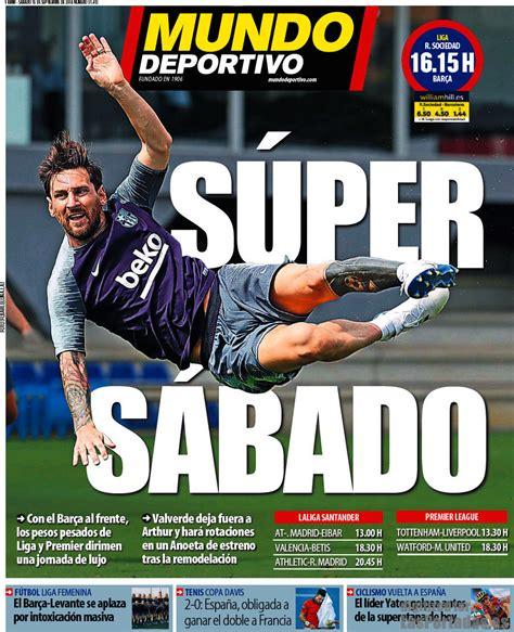 Periodico Mundo Deportivo   15/9/2018