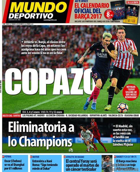 Periodico Mundo Deportivo   24/12/2016