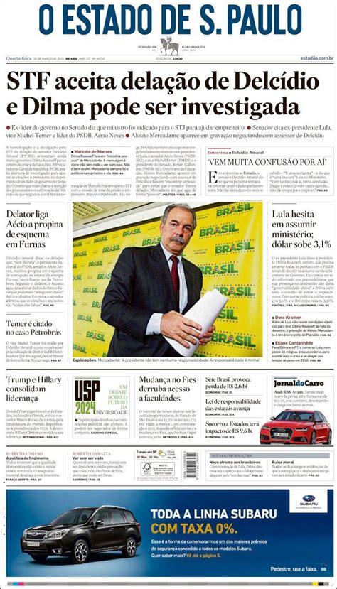 Periódico O Estado de São Paulo  Brasil . Periódicos de ...