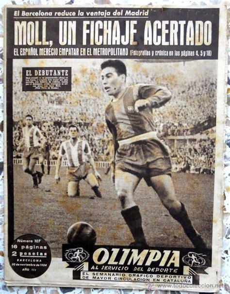 periodico olimpia semanario 1954 futbol vintage   Comprar ...