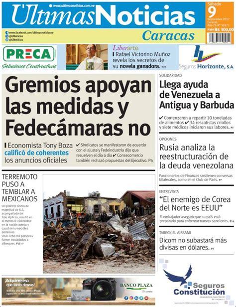 Periódico Últimas Noticias  Venezuela . Periódicos de ...