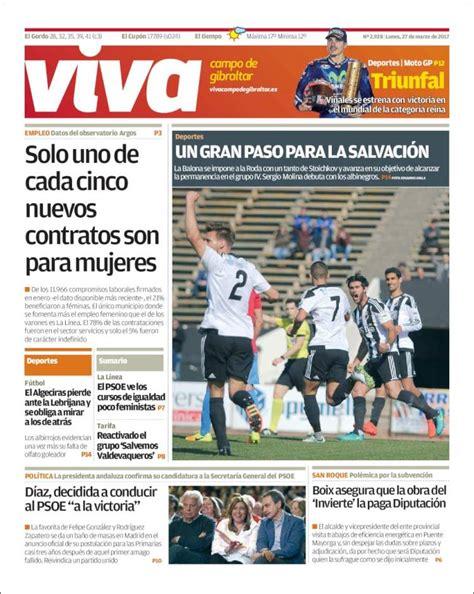Periódico Viva Campo de Gibraltar  España . Periódicos de ...