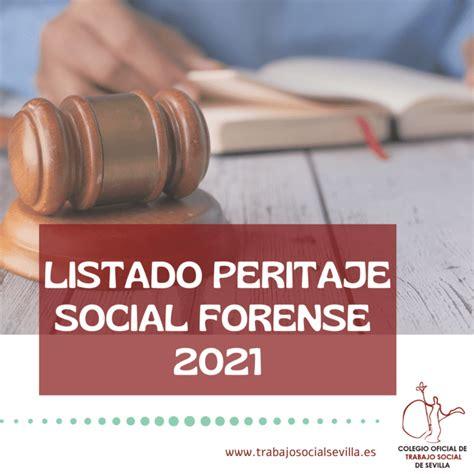 Peritos Sociales Forenses | Colegio Oficial de Trabajo ...