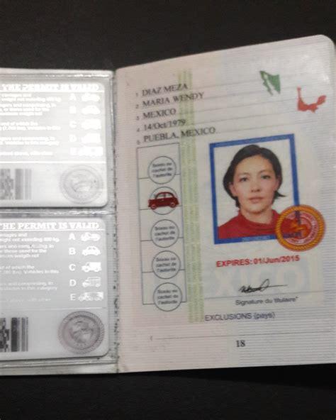 Permiso Internacional De Conducir   $ 1,500.00 en Mercado ...