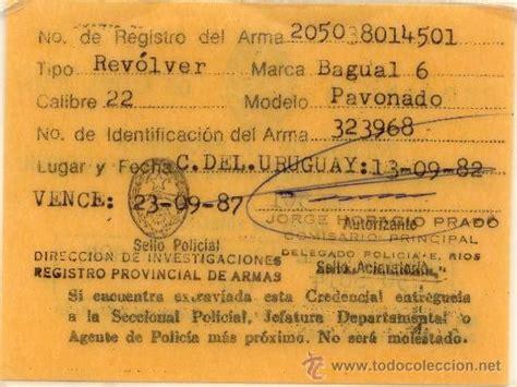 permiso licencia de armas de argentina, 1982   Comprar en ...