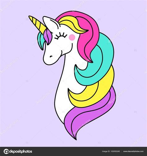 Personaje de dibujos animados infantiles como Unicornio de ...