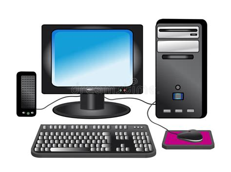 Personal Computer   Desktop Stock Illustration ...