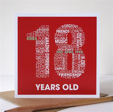 personalised 18th birthday card by mrs l cards ...