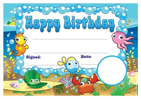 Personalised Certificates for Schools | Happy Birthday ...
