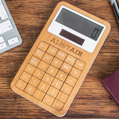 Personalised Eco Friendly Wooden Calculator ...