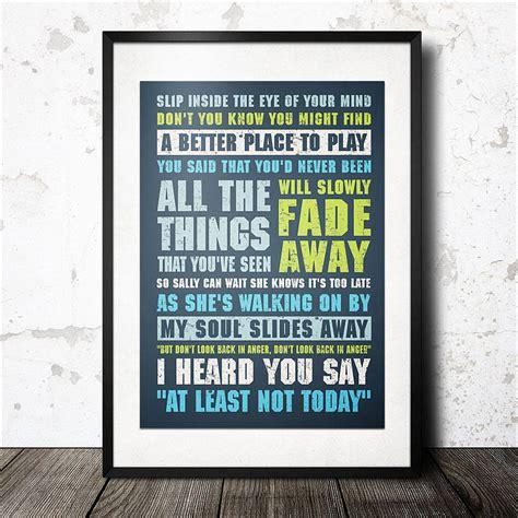 personalised favourite music lyrics poster by magik ...