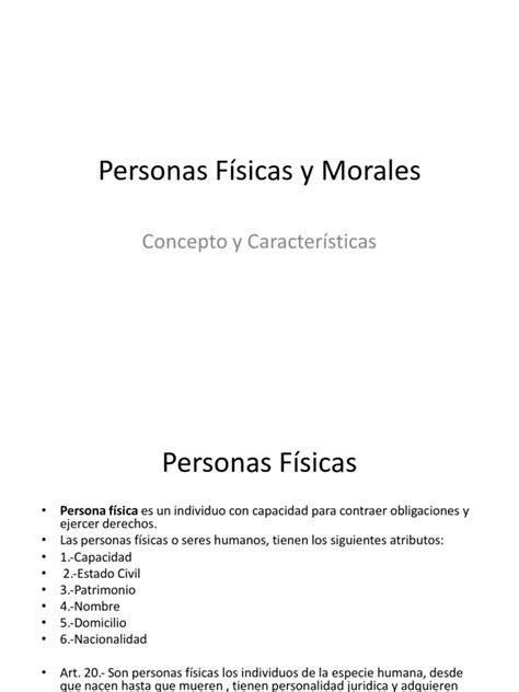 Personas Físicas y Morales