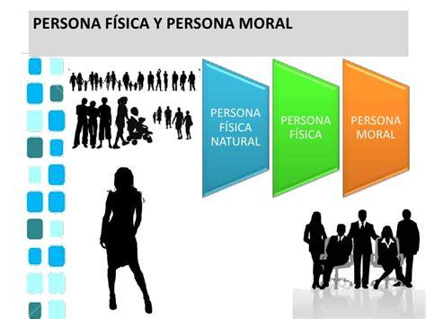 Personas físicas y morales...
