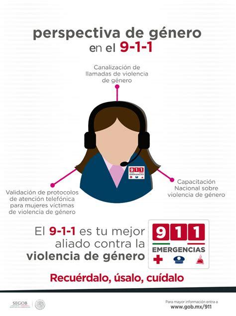 Perspectiva de género en el 9 1 1   911   Gobierno   gob.mx