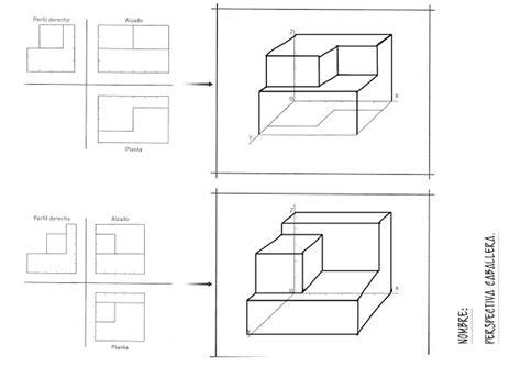 Perspectivas   Isométrico y Caballera   Dibujo Técnico