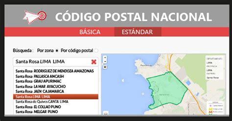 PERÚ: Código Postal Nacional   www.codigopostal.gob.pe ...