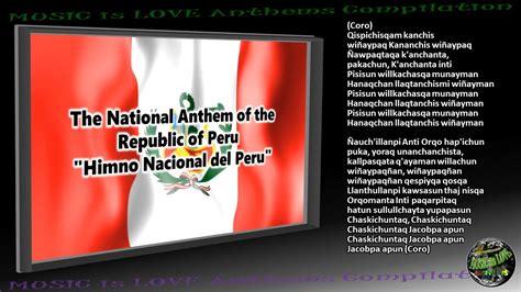 Peru National Anthem  Himno Nacional del Perú ...