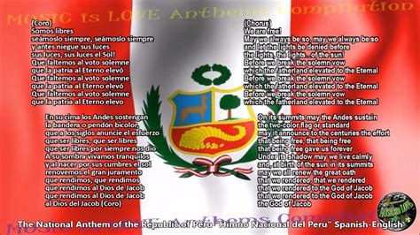Peru National Anthem  Himno Nacional del Perú  w/music ...