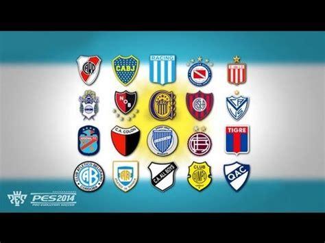 PES 2014   Argentina Primera División   Equipos   YouTube