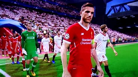 PES 2018. Liverpool Sevilla FC. Gameplay.   YouTube