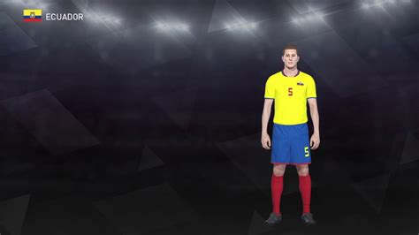 Pes 2018 Selección Ecuador Uniforme Local   YouTube