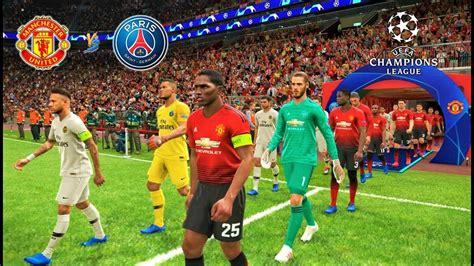 PES 2019   Manchester United vs PSG   UEFA Champions ...