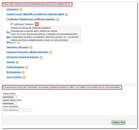 Petición de cita previa a través de internet   Agencia ...