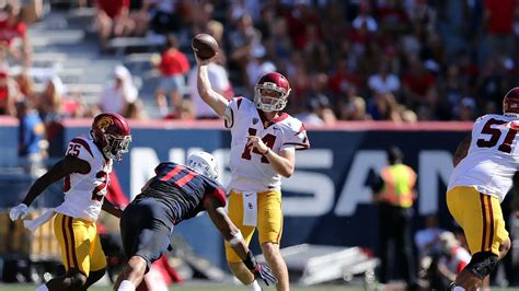PFF College stats show USC QB Sam Darnold is cool under ...