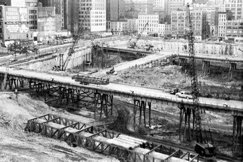 Photo. 1968. New York City. Construction Below Ground ...