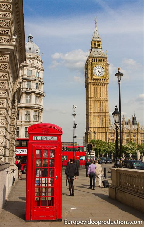 Photo: Red telephone box and Big Ben in London in England