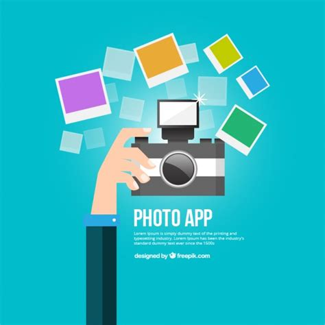 Photography app Vector | Free Download