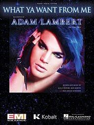 Piano Sheet Music. Piano Notes.: Adam Lambert   Whataya ...