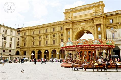 Piazza della Repubblica in Florence, Italy   Photo ...