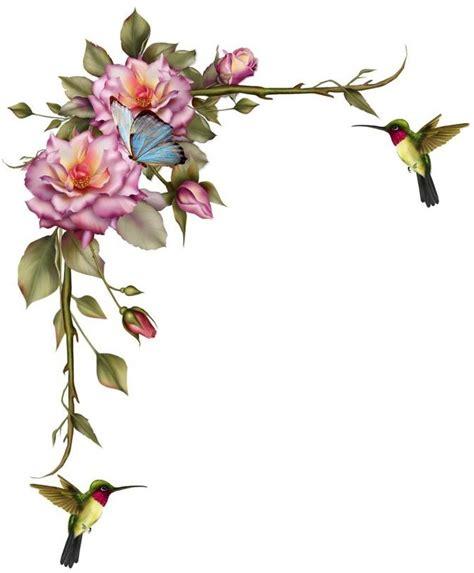Picaflores  sup. izq.  | Flores pintadas, Pintura de ...