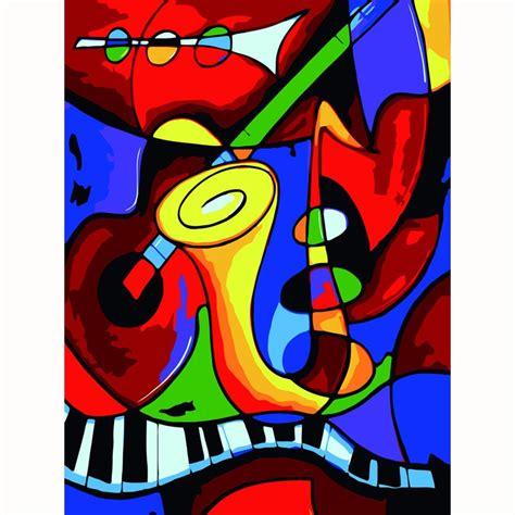 Picasso música mundo DIY pintura digital por números kits ...