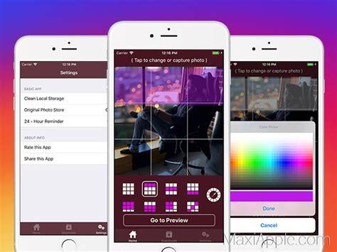 PictaGram iPhone – Vos Photos Instagram en Mosaïque ...