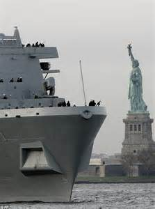 Pictured: The  Twin Towers  warship built using World ...