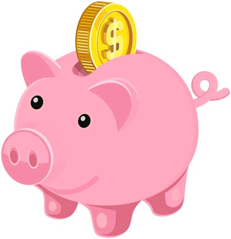 Piggy Bank PNG Clip Art Image | Gallery Yopriceville ...